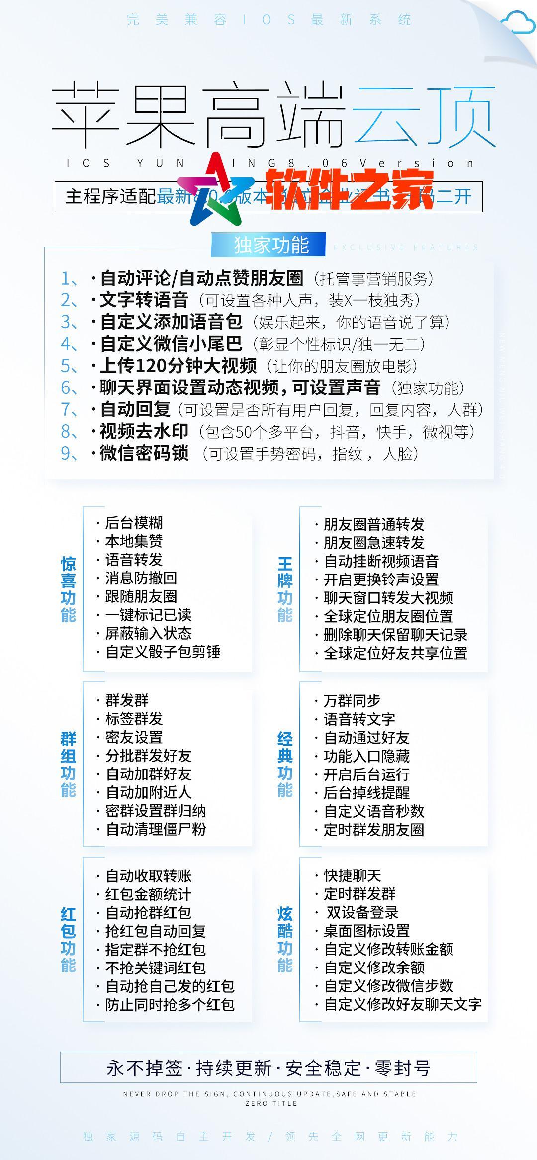 【苹果云顶官网下载更新地址激活授权码】苹果ios微信多开分身一键转发大视频支持苹果最新系统独立企业证书一码双开